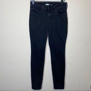 Old Navy Pop Icon Black Skinny Jean Size 0